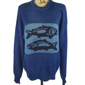 Mens Claibourne Fish Knit Sweater